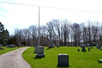 Ganges Township Civil War Monument in Taylor Cemetery image. Click for full size.