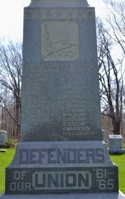 Ganges Township Civil War Monument image. Click for full size.