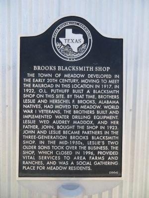 Brooks Blacksmith Shop Marker image. Click for full size.