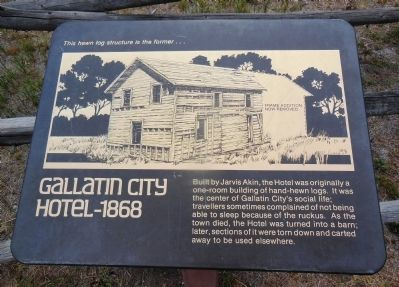 Gallatin City Hotel - 1868 Marker image. Click for full size.