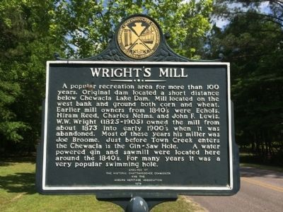 Wright's Mill Marker image. Click for full size.