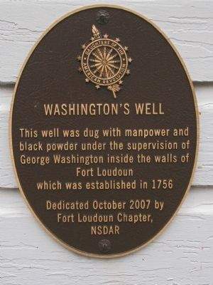 George Washington's Well Marker image. Click for full size.