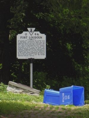 Two Fort Loudoun Markers image. Click for full size.
