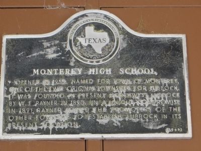 Monterey High School Marker image. Click for full size.