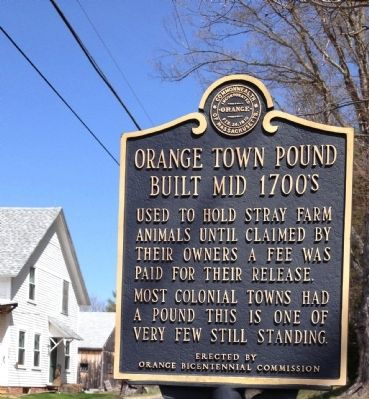 Orange Town Pound Marker image. Click for full size.