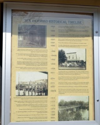 New Richmond Historical Timeline Marker image. Click for full size.