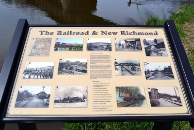The Railroad & New Richmond Marker image. Click for full size.