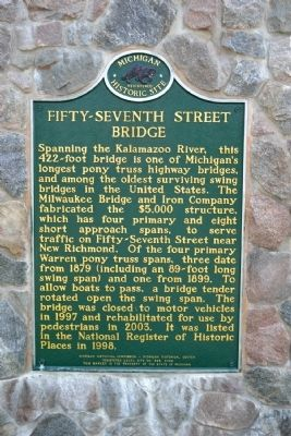 Fifty-Seventh Street Bridge Marker image. Click for full size.