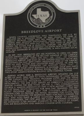 Breedlove Airport Marker image. Click for full size.