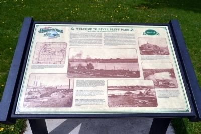Welcome to River Bluff Park Marker image. Click for full size.