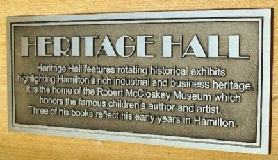 Heritage Hall Marker image. Click for full size.