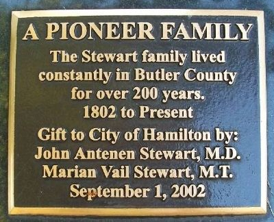 A Pioneer Family Marker image. Click for full size.
