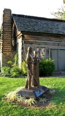 A Pioneer Family Marker & Statue image. Click for full size.