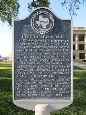 City of Levelland Marker image. Click for full size.