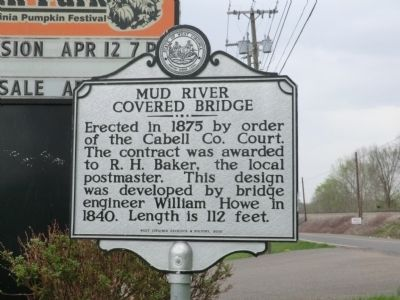 Mud River Covered Bridge Marker image. Click for full size.
