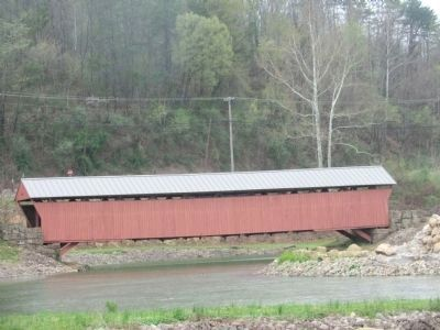 Mud River Covered Bridge Side View image. Click for full size.