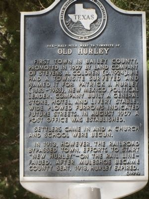 Old Hurley Marker image. Click for full size.
