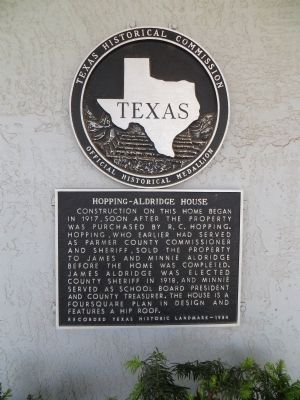 Hopping-Aldridge House Marker image. Click for full size.