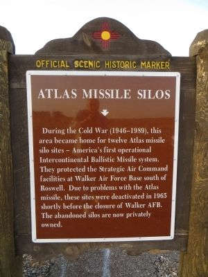 Atlas Missile Silos Marker image. Click for full size.