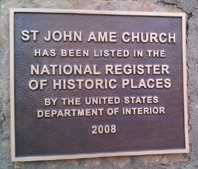St. John AME Church NRHP Marker image. Click for full size.