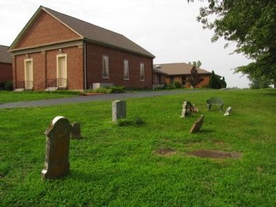 White Oak Pond Church & cemetery image. Click for full size.