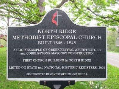 North Ridge Methodist Episcopal Church Marker image. Click for full size.