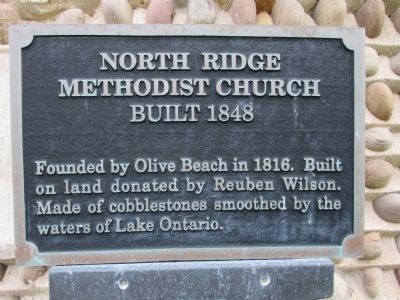 Smaller North Ridge Methodist Church Marker image. Click for full size.