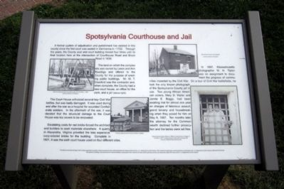 Spotsylvania Courthouse and Jail Marker image. Click for full size.