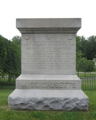 1st Massachusetts Heavy Artillery Monument image. Click for full size.