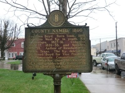 County Named, 1860 Marker image. Click for full size.