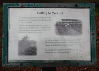 Getting to Marconi Marker image. Click for full size.