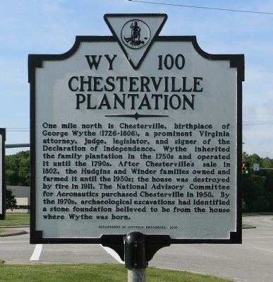 Chesterville Plantation Marker image. Click for full size.