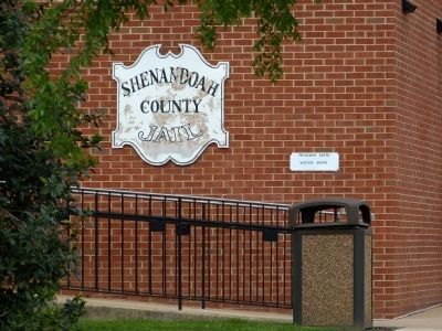 Shenandoah County Jail Sign image. Click for full size.