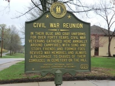 Civil War Reunion Marker image. Click for full size.