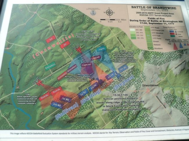 Battle of Brandywin Map from Marker image. Click for full size.