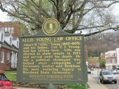 Allie Young Law Office Marker image. Click for full size.