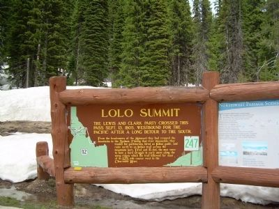 Lolo Summit Marker image. Click for full size.