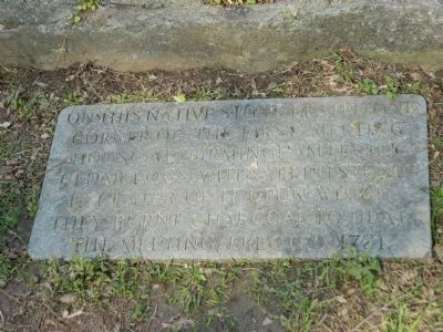 On This Native Stone Marker image. Click for full size.