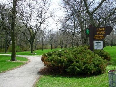 Lake Park Marker image. Click for full size.