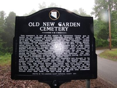 Old New Garden Cemetery Marker image. Click for full size.