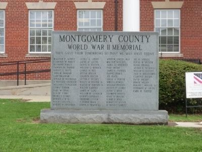 Montgomery County War Memorial Courthouse-World War II Veterans Memorial image. Click for full size.