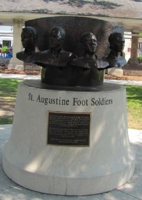 The St. Augustine Foot Soldiers Monument Marker image. Click for full size.