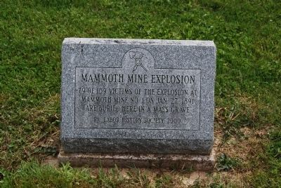 Mammoth Mine Explosion Mass Grave Marker image. Click for full size.