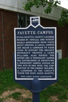 Fayette Campus Marker image. Click for full size.