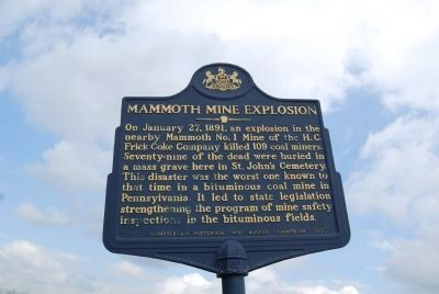 Mammoth Mine Explosion Marker image. Click for full size.