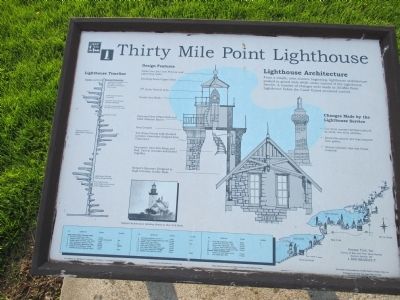 Thirty Mile Point Lighthouse Architecture Marker image. Click for full size.