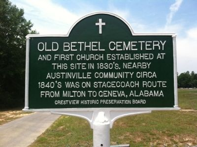 Old Bethel Cemetery Marker image. Click for full size.