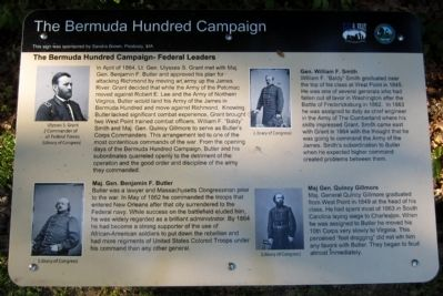 The Bermuda Hundred Campaign-Federal Leaders Marker image. Click for full size.