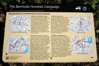 Opening Actions of the Bermuda Hundred Campaign Marker image. Click for full size.