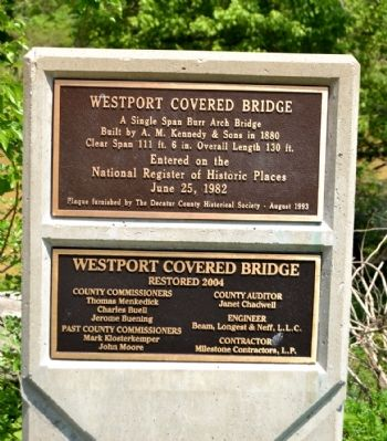 Westport Covered Bridge Marker image. Click for full size.